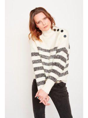 MKT Studio Kitty Stripe Knit Cream