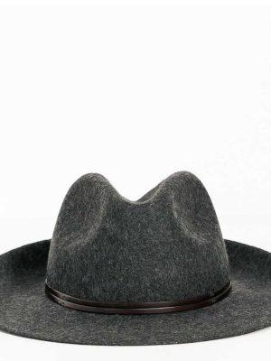 Travaux en Cours Wool Fedora Hat Charcoal Grey