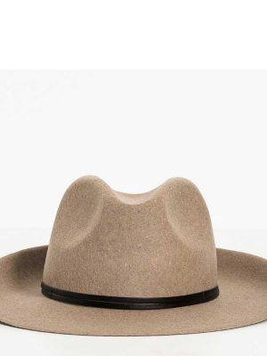 Travaux en Cours Wool Fedora Hat Greige