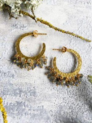 Ashiana Marina Hoop Earrings Labradorite